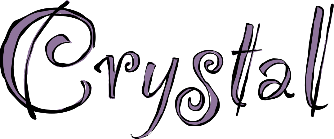 Crystal in fancy font